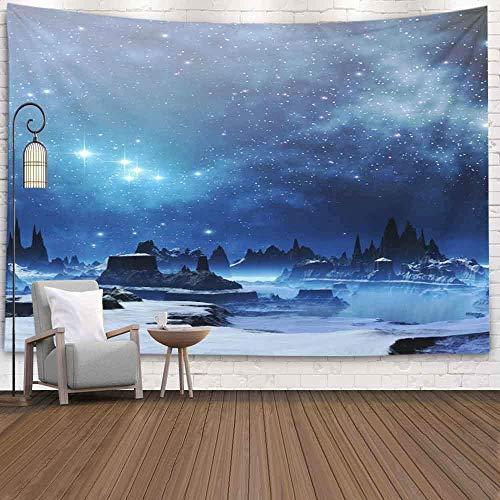 OMNHGFUG Tapiz de pared de invierno para Navidad, Día de Acción de Gracias, 20 x 152 cm, diseño de planeta, para colgar en la pared, tapiz para dormitorio, hogar