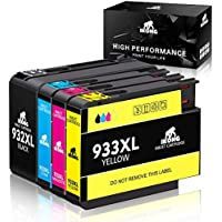 4-Pack IKONG HP 932XL 933XL 932 933 Compatible Replacement Ink Cartridges for Select HP Officejet Printers