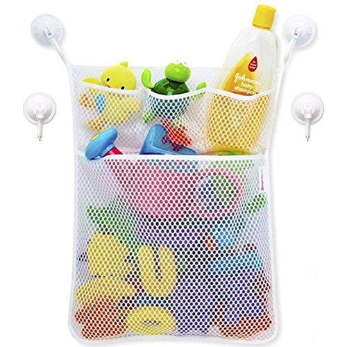 Bébé jouet de bain en maille filet Organiseur de sac de rangement, support de ventouse, Reine Tub Sac en filet