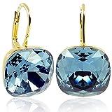 Ohrringe Blau mit Kristallen von Swarovski Gold NOBEL SCHMUCK