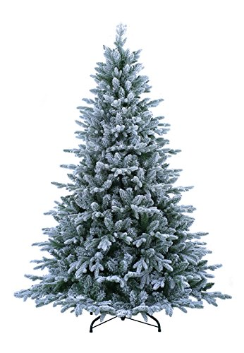 ABUSA Pre Lit Christmas Tree 9 ft Flocked Snow with 900 LED Clear Lights 2497...