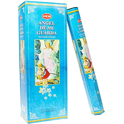 Angel De Mi Guarda - Box of Six 20 Stick Tubes, 120 Sticks Total - HEM Incense