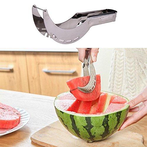 TKFY Melon d'eau Slicer créatif en Acier Inoxydable Fruit Cutter Melons Rapide des Couteaux de Cuisine Peeler Gadgets Ustensiles de Cuisine Multi-Fonctionnelle pour la Maison 25 × 5.5cm