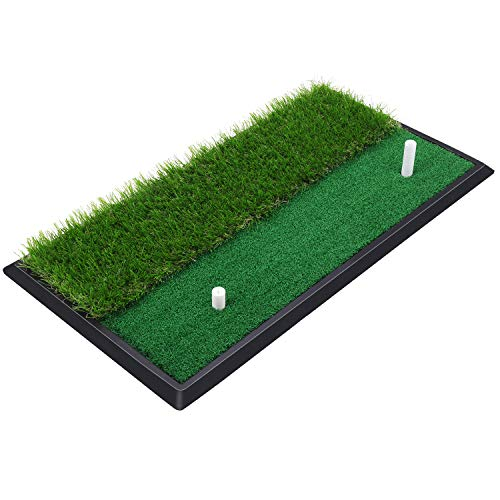 SkyLife Golf Practice Mat with Heavy Rubber Base for Driving Hitting Chipping Putting,...