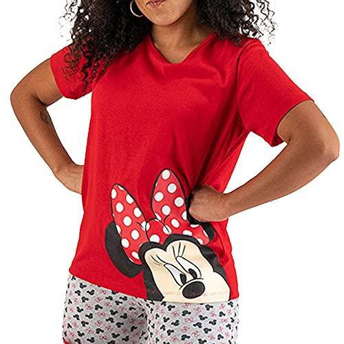 Pijama para Mujer DIS-9299 Minnie Mouse Blusa y Pantalon para Dama (M)