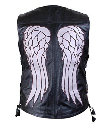 Feather Skin The Walking Dead Governor - Daryl Dixon Angel Wings Leder Jacke-xs