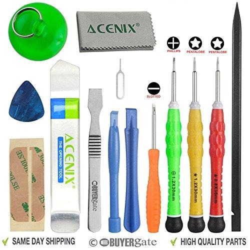 ACENIX® Premium Outil de réparation kit Plus complète pour Apple iPhone 4, 4S, 5, 5C, 5S, 6, 6Plus, 6s, 6s Plus, iPad 4, 3, 2, iPad mini, iPods et bien plus encore. [14pièces]