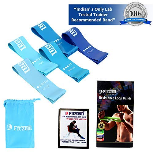 Fitzeal Resistance Rubber Bands with Workout Guide and Carry Bag...