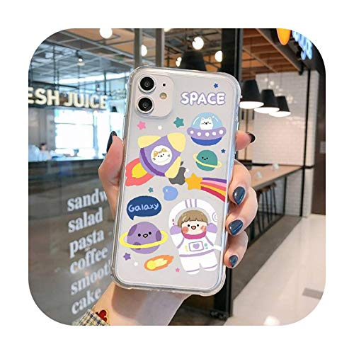 Funda transparente para iPhone 11 12 Mini Pro XS MAX 8 7 6 6S Plus X 5S SE 2020 XR-a10-iPhone5 SE 5S