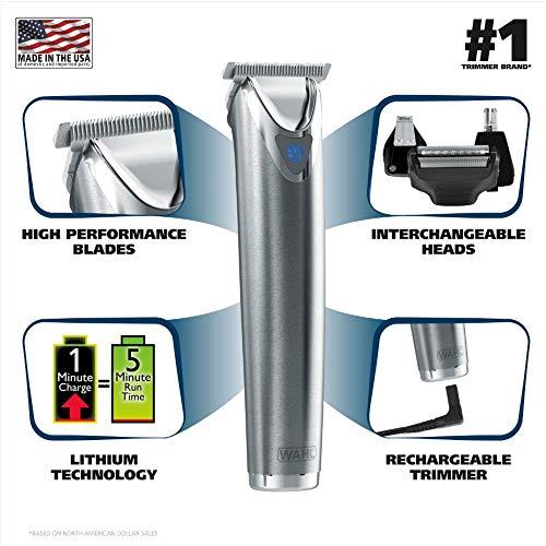 Tondeuse à cheveux professionnelle pour homme avec écran LCD couleur 8 peignes de précision...