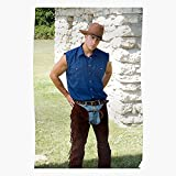 Jeans Chaps Hunk Mens Cowboy Western Gay Guy Leather I Cowboy- The Best and Newest Poster for Wall Art Home Decor Room I Customize