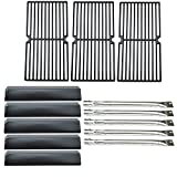 Direct Store Parts Kit DG139 Replacement for Brinkmann 810-2545-W Gas Grill Burner,Heat Plate,Cooking Grid