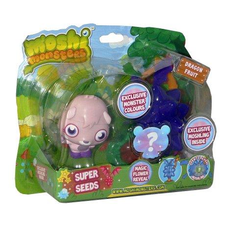 Moshi Monsters – Super Seeds – Zommer + Moshling Surprise – Figurines 10cm + Aléatoire (Import UK)