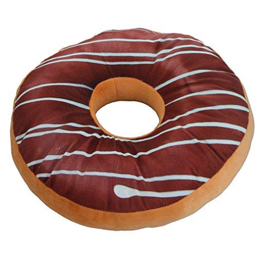 Nunubee rundes Donut-Kissen, Plüsch, Zierkissen für Bürostuhl, Autositz. Muster 5