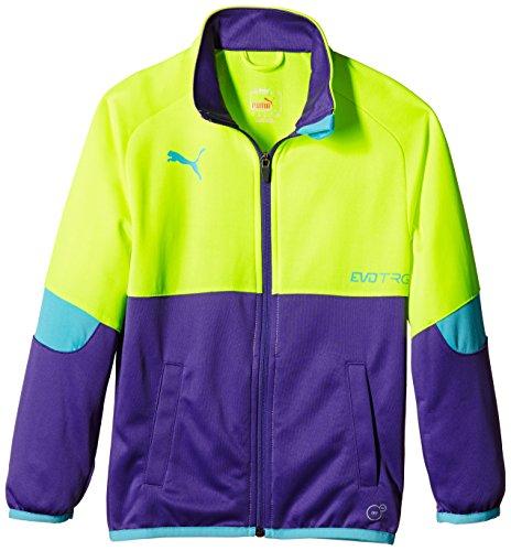 Puma Unisex - Kinder Jacke IT evoTrg, fluro yellow-prism violet, 152, 654190 66