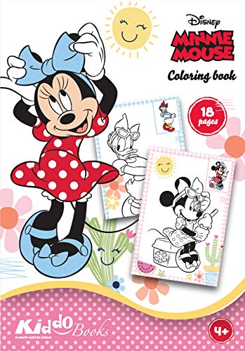 QuackDuck Disney Malblock Minnie Mouse – Minnie Mouse – Coloring Album – Dipingere con disegni da colorare (9007)