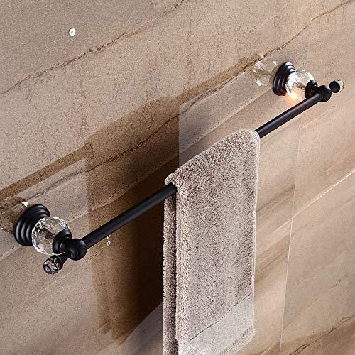 zvcv Juego de Accesorios de baño Conjuntos de Hardware de baño Bronce frotado con Aceite Cobre Negro Cristal Antiguo Barra de Toalla Anillo de Toalla Gancho de Toalla Soporte de Papel higiénico