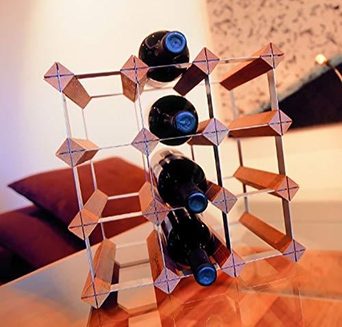 AMBH wijnfles opslag rack wijn rek creatieve bar office perzik decoratie verticale wijn glas rack L19.12.17