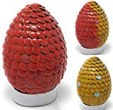 Handmade Magical Color Changing Phoenix Dragon Egg 4 inch Scarlet (Orangish Red) to Yellow