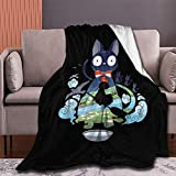 Lusad Kiki's-Delivery-Service-Flying-Jiji Blanket Warm Bed Super Soft Flannel Blanket Cozy Winter Blanket for Adults Children Baby On Bed Couch Sofa 50'x40' for Kid