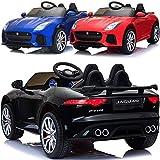 Jaguar F-Type Elektrisches Kinderauto Kinder Elektroauto LIZENSIERT mit 12V Akku 2 Motoren...