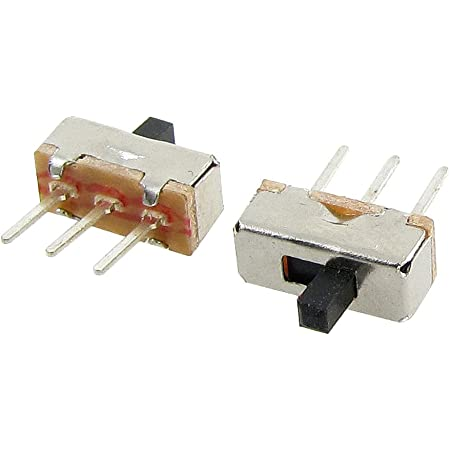 50 Stück 6mm Höhe Regler 3 Pin 2 Position 1P2T SPDT Panel Folie Schalter 0.5A 5