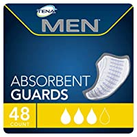 TENA Incontinence Guards for Men, Moderate Absorbency, 48 Count by TENA