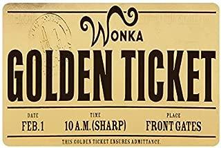 Lxmn Custom Machine-washable Willy Wonka Golden Ticket Chocolate Bar 3 Door Mat Decorative Doormat Indoor/Bathroom Doormat Non-woven Fabric Non Slip Gate Pad Rug 23.6