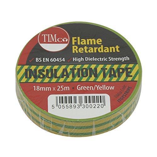 TIMco, ITGYSTRIPE, PVC Timco ITG nastro STRIPE - Verde/Giallo