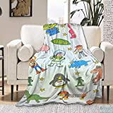 ARRISUM Toy Cartoon Burn Book Super Soft Flannel Throw Blanket for Adult and Kids, Digital Printed Ultra-Soft Micro Fleece Blanket 50'X40' for Kids