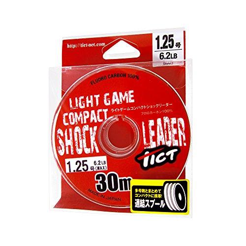 TICT(ティクト) ライトゲーム コンパクトショックリーダー 30m 1.0号