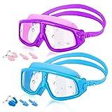 HeySplash [2PZS Universal Gafas de Natación para Niños, Anti-Niebla...