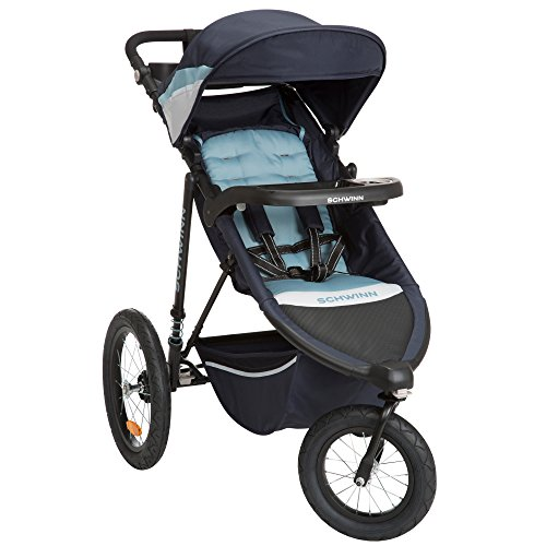 Schwinn Interval Jogging Stroller, Stone Blue