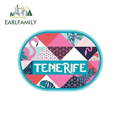 A/X 13 cm 9,5 cm para Pegatinas de Coche de Tenerife Tropical Protector Solar de Vinilo RV Van JDM Accesorios de Coche gráficos Anime Signo