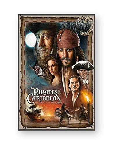 YOUCAIHUA Películas Impresión en Lienzo Cartel Piratas del Caribe Watchmen Tropic Thunder Decoración de la Pared Imágenes para el hogar Sala de Estar 50 * 70 cm sin Marco