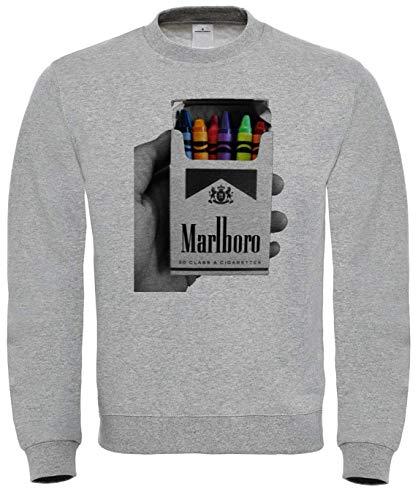 Benefitclothing Marlboro Cigarettes Colorful Crayons Sweatshirt