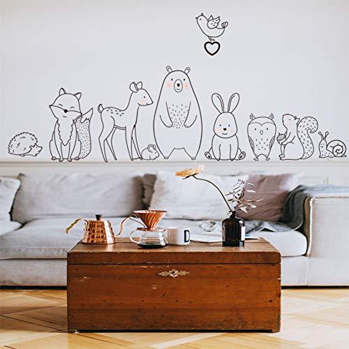 Cartoon Tier Wandaufkleber schüchtern Bär Fuchs Baby Kinderzimmer Kindergarten Aufkleber Home Dekoration Tapete Angebot