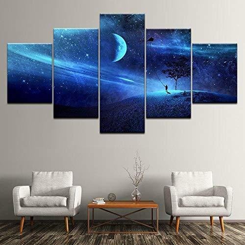 JJJKK Bilder mit Rahmen - Space Fantasy...