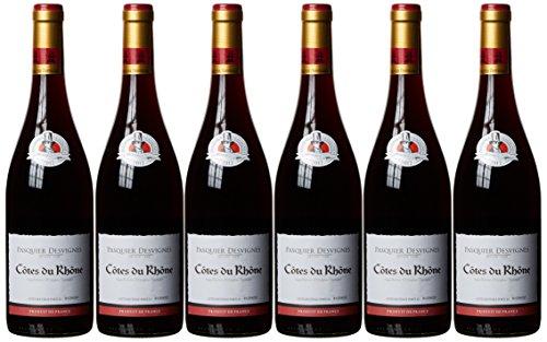 Francés Vino côtes Du Rhone AOC (6x 0.75l)