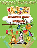ABC Coloring Book For Kids: Coloring Book For Kids Ages 2+Learn The Alphabet Coloring BookFun Activity Book With Letters For Kids And Toddler