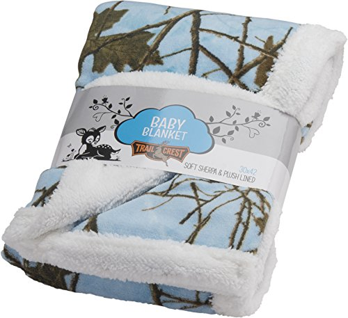 Ultra Soft Sherpa Fleece Camo Baby Blanket | Cozy, Plush Throw Blanket for Kids | Reversible with Camo Prints | Washable | Wide Size, Warm & Comfortable | Baby Shower Present
