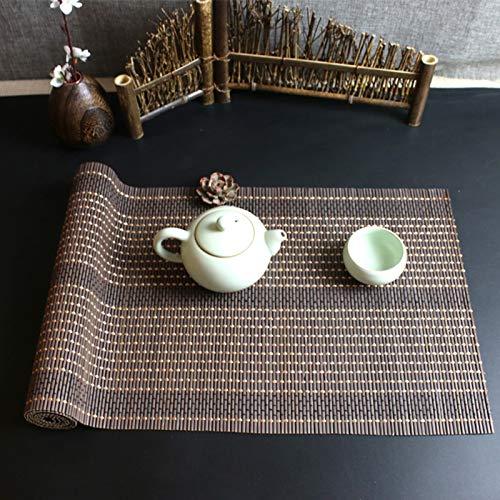 """LXLA Tischläufer Braun/Kaffee Bambus Tischläufer, rutschfeste Hitzebeständige Tischplatte Im Japanischen Stil, 30 cm / 60 cm / 90 cm / 120 cm Breit Optional (Size : 12\"""" x 39\"""" (30cm x 100cm))"""