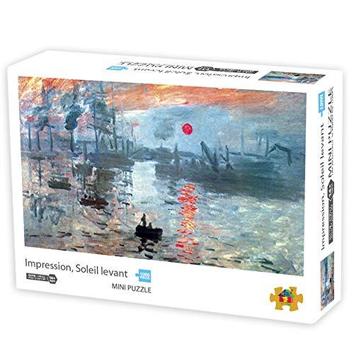Herize Puzzle Adultos 1000 Piezas para Niños | Mini Puzzle Impresión al Amanecer Creativo Puzzle Regalos para Personas Mayores Juegos de Rompecabezas para la Damilia Decoración del Hogar 42X29.7 CM