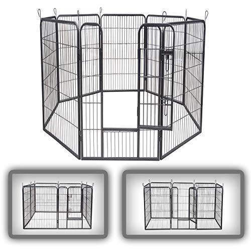 zoomundo Parque Perros Jaula Plegable Mascotas para Animales Entrenamiento Puerta Recinto Gatos...