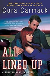 all lined up by cora carmack book cover