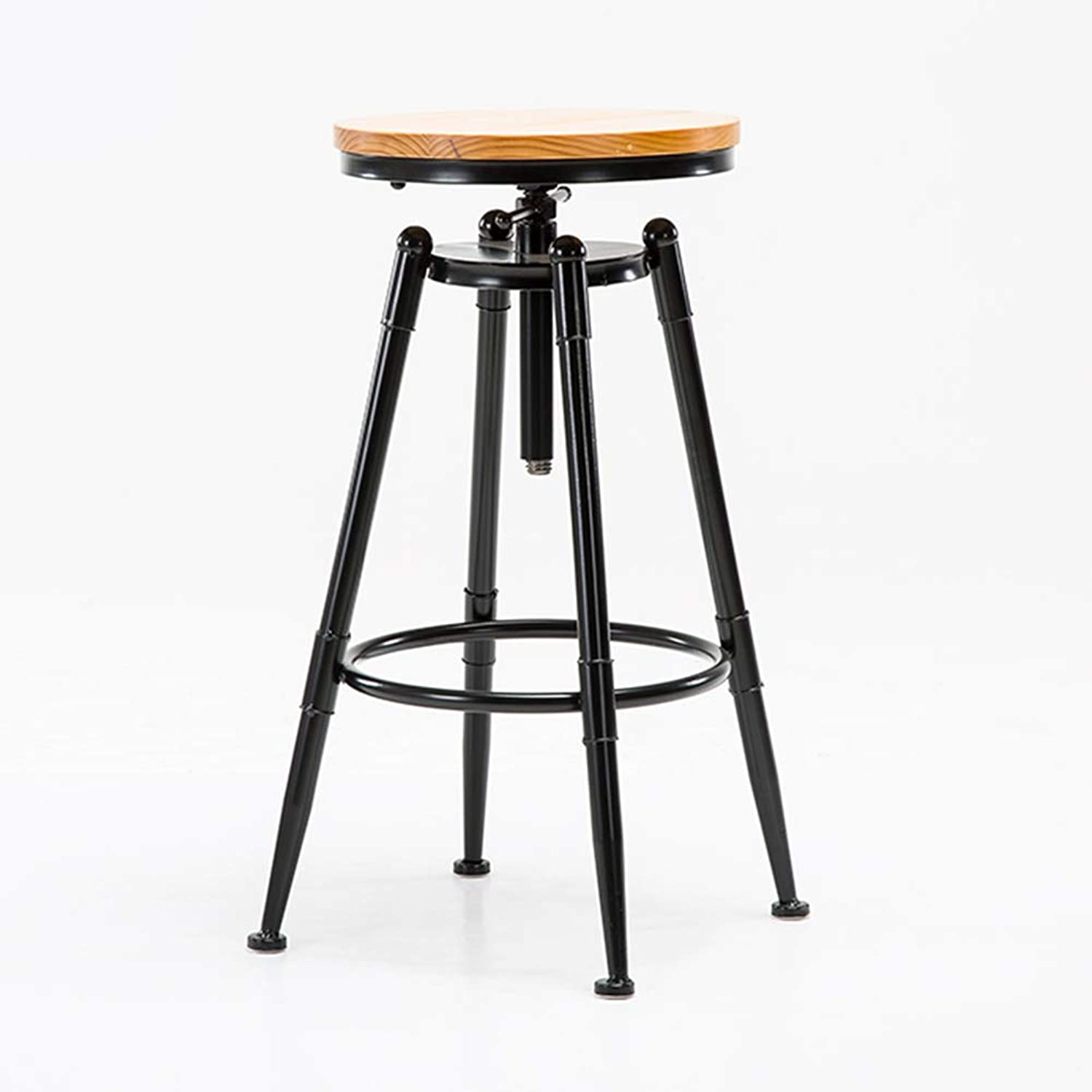 European redating Bar Chair, Retro High Stool Coffee Chair,Solid Wood Cushion,for Pub Counter Cafe Kitchen Hairdressing