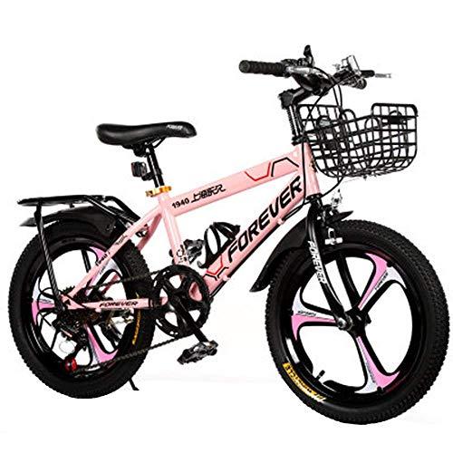 Niños de bicicletas Bicicleta de montaña, variable de alta velocidad de acero al carbono de bicicletas, Jóvenes de Children Estudiante 18 pulgadas bicicleta con canasta y posterior del soporte Diseño