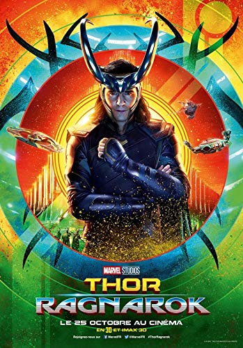 Import Posters Thor Ragnarok – Loki – French Movie Wall Poster Print – 30CM X 43CM