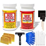 Mod Podge Bundle, 8 Ounce Gloss and Matte Medium Waterproof Sealer, Pixiss Accessory Kit with Brayer, Brushes, Gloves, Spreaders