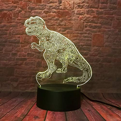 Veilleuse Creative Funny 3d Led Dinosaur Shape Night Lamp Led Mood Room Toys Cadeaux